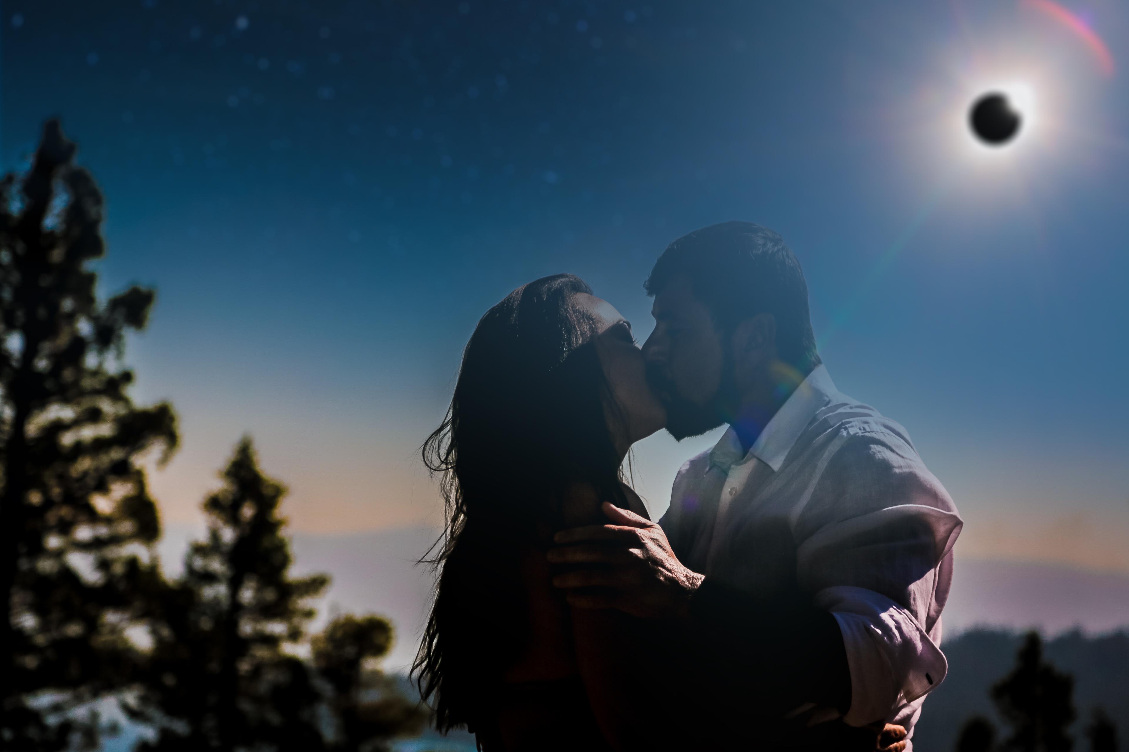 Eclipse Wedding Photo